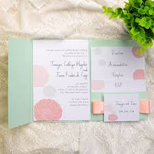 mint wedding invitations inexpensive mint and ribbon dandelion wedding invites