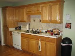 kitchen paint colors with oak cabinets and white appliances unique pattern backsplash oak cabinet smallshaped design fancy