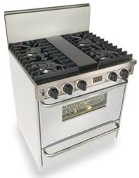 Cooktop With Griddle And Grill White Gas Range At Us Appliance