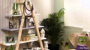 diy how to use old fashioned ladders for shelving youtube