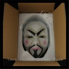 anonymous mask 2016 new desin high quality v for vendetta mask resin collect home