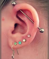 earrings on top of ear types of ear piercing which can make you awesome