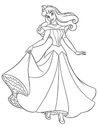 wedding dress coloring pages princess aurora in her wedding dress in sleeping beauty coloring