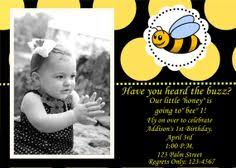 bumble bee birthday invitations google search layla u0027s 2nd