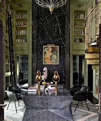 Artistic Chandelier Astounding Library With Art Deco Interiors Concept Unique Table