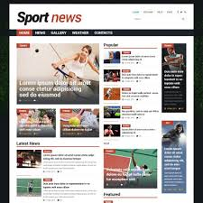 sports news joomla template