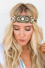 beaded headband shimmering beaded headband three bird nest