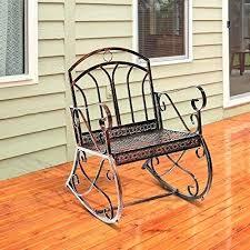 metal rocking chairs outdoor vintage metal rocking chair garden