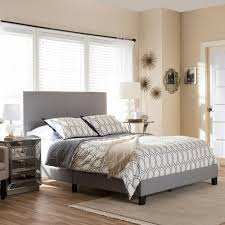 Baxton Studio Bed Baxton Studio Ramon Gray Queen Upholstered Bed 28862 6847 Hd The