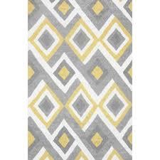 grey and yellow area rug amazon com rugshop moroccan trellis