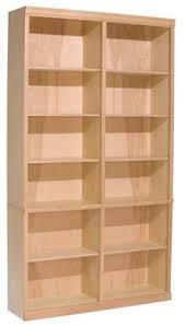 Unfinished Bookshelves by Bush Wl60302su Universal Wall Systems Light Oak Storage Cabinet