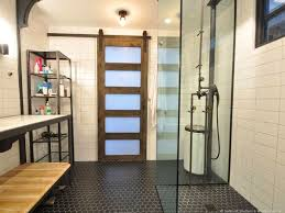 Modern Bathroom Doors Barn Doors In Modern Bathroom Window Treatment Ideas Sunburst
