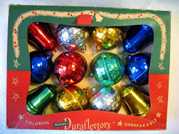 vintage boxed set 12 plastic ornaments duraflectors