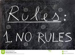 no rules on chalkboard stock photo image 39272335