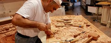 custom wood carving age tile