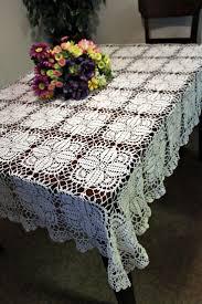 102 best crochet tablecloths table runner images on pinterest