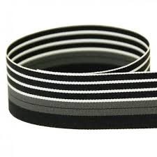 black and white striped ribbon 5 yards 1 5 luxury gray black white stripes woven grosgrain ribbon