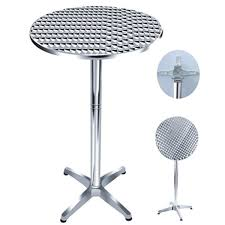 High Top Folding Table Folding High Top Aluminum Bistro Table
