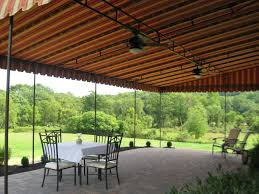 patio canopy featuring a bronze powder coated frame and double