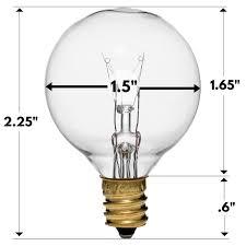 5 watt light bulbs 30 pack of g40 replacement bulbs 5 watt g40 globe bulbs for string