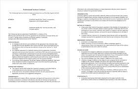 professional services agreement template microsoft word templates