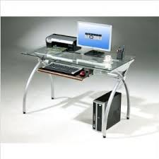 Metal And Glass Computer Desks Desk Design Ideas Metal Computer Desk With Hutch Glass Top Office