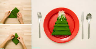 how to make tree napkin fold all steps diy crafts