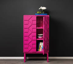 furniture stylish electric pink modern and artistic cabinet for