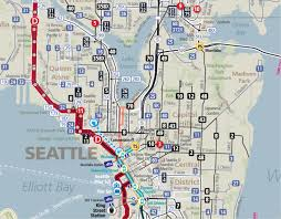 seattle map by county seattle reveals its frequent network human transit