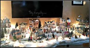 Decorated Christmas Homes Christmas Village Christmas Decorating Christmas Decor
