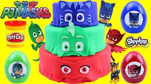 pj masks play doh surprise cake catboy gekko owlette surprise