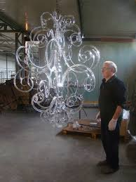 Chandelier New York Assembling And Testing Modern Contemporary Murano Glass Chandelier