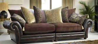 Leather And Upholstered Sofa Sloane Leather And Fabric Sofa Lounge Pinterest Fabric Sofa