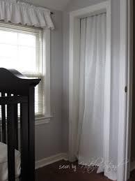 Curtain As Closet Door Curtain Panel Tension Rod U003d Replaces Bi Fold Doors On Closets I