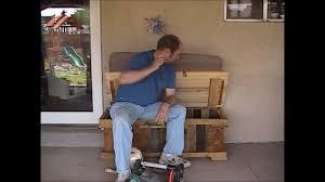 7 patio storage bench made from pallets manhattan wood