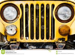 old yellow jeep old yellow car stock image image of retro elderly vintage