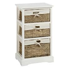 Cabinet Baskets Storage Sara White 3 Basket Storage Cabinet Christmas Tree Shops Andthat