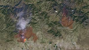 Idaho Fires Map Detailed Satellite Imagery Of The Idaho Wildfires Nasa