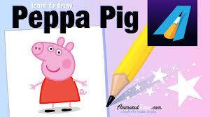 peppa pig draw peppa pig color peppa pig cute