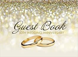 anniversary guest book guest book 50th wedding anniversary beautiful ivory guest book