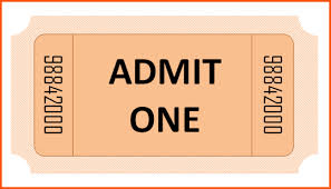 pink color admission ticket template example with basic shape