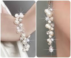 pearl bracelet set images Wedding jewelry set wedding pearl jewelry set swarovski jewelry jpg