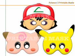 unique pokemon 3 printable masks photo booth pokemon mask