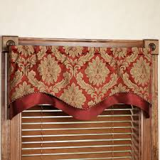 Burgundy Valances For Windows Darby Layered Scalloped Valance
