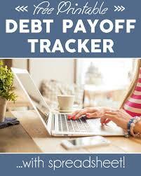 Debt Spreadsheet Debt Tracker Printable And Spreadsheet One Beautiful Home