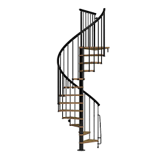 arke nice1 51 in black spiral staircase kit k50106 the home depot