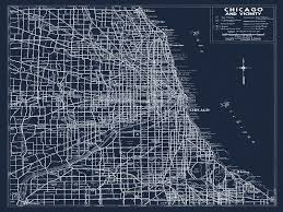 chicago map streets custom for emily 30x40 chicago road map 1940 map of chicago