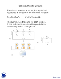 Parallel Circuit Problems Worksheet How To Calculate Series And Parallel Resistance With Cheat Sheets