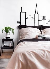 Skyline Wallpaper Bedroom 10 Diy Wall Decorations With Washi Tape