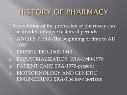 history of pharmacy ppt video online download